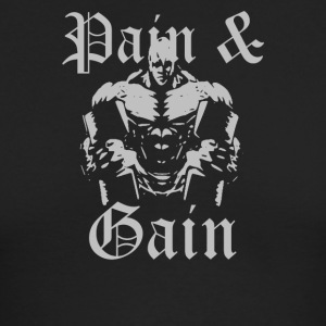 Pain And Gain - Men's Long Sleeve T-Shirt by Next Level