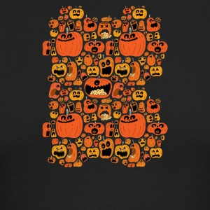 Pumpkin Pattern - Men's Long Sleeve T-Shirt by Next Level