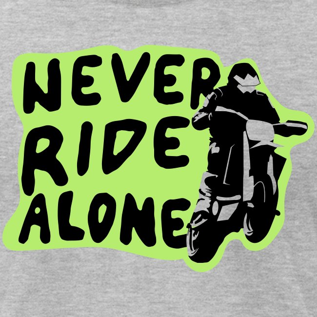 Never Ride Alone White