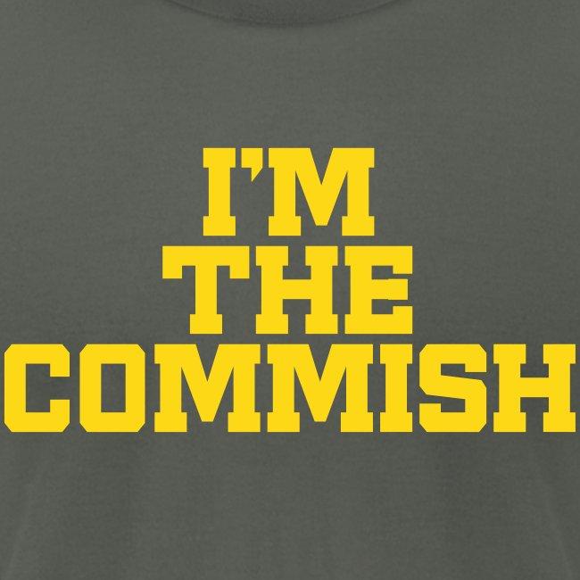I'm The Commish (Turquoise & Metallic Gold)