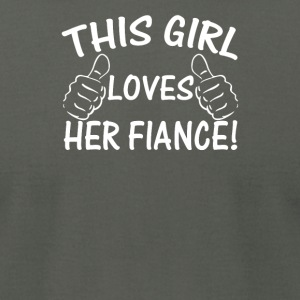 This Girl Love Her Fiance - Men's T-Shirt by American Apparel