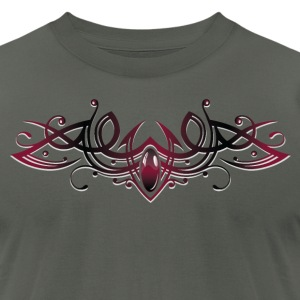 Filigree Tribal with gemstone - Men's T-Shirt by American Apparel