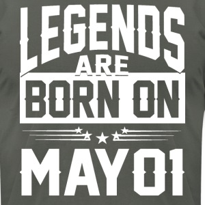 Legends are born on May 01 - Men's T-Shirt by American Apparel
