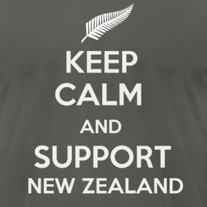 Keep Calm and support New Zealand - Men's T-Shirt by American Apparel