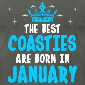 The Best Coasties Are Born In January - Men's T-Shirt by American Apparel