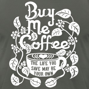 Coffee Life - Men's T-Shirt by American Apparel