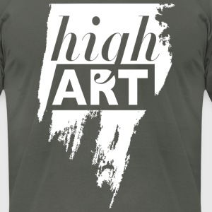 high art. negative space in a brush stroke. - Men's T-Shirt by American Apparel
