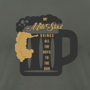 The Milk Stout Shirt - Men's T-Shirt by American Apparel