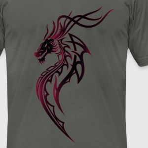 Fantasy dragon with wings - Men's T-Shirt by American Apparel