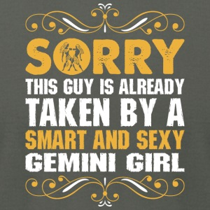 Sorry This Guy Is Taken Smart & Sexy Gemini Girl - Men's T-Shirt by American Apparel