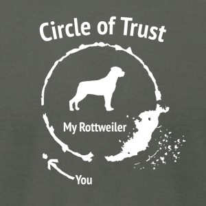 Funny Rottweiler shirt - Circle of Trust - Men's T-Shirt by American Apparel