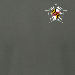Baltimore Police T Shirt - Maryland flag - Men's T-Shirt by American Apparel