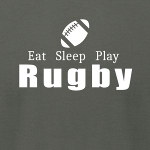 Eat Sleep Play Rugby- cool shirt,geek hoodie,tank - Men's T-Shirt by American Apparel