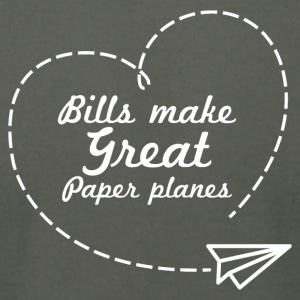 Bills make great paper planes - Men's T-Shirt by American Apparel
