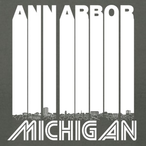 Retro Ann Arbor Michigan Skyline - Men's T-Shirt by American Apparel