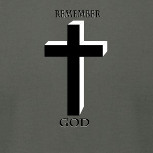 Remember God - Men's T-Shirt by American Apparel