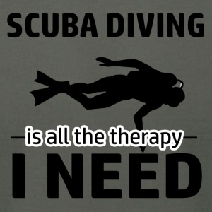 Scuba Diving is my therapy - Men's T-Shirt by American Apparel
