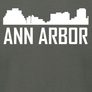Ann Arbor Michigan City Skyline - Men's T-Shirt by American Apparel