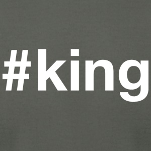 King - Hashtag Design (White Letters) - Men's T-Shirt by American Apparel