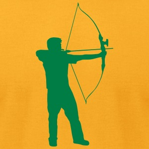 shoot sport silhouette - Men's T-Shirt by American Apparel