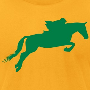 Horse games silhouette - Men's T-Shirt by American Apparel