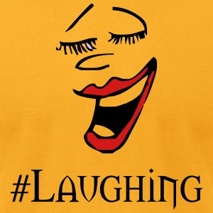 laughing - Men's T-Shirt by American Apparel