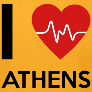 I Love Athens - Men's T-Shirt by American Apparel