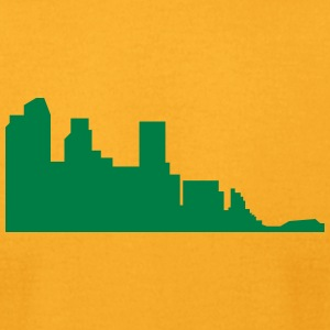 city silhouette 3 - Men's T-Shirt by American Apparel