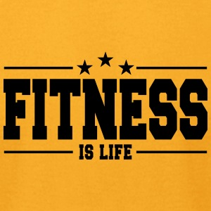 Fitness is life 1 - Men's T-Shirt by American Apparel