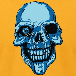 blue_skull_with_single_eye - Men's T-Shirt by American Apparel