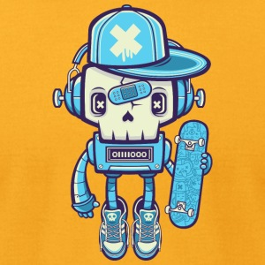robot-skate-skateboard - Men's T-Shirt by American Apparel