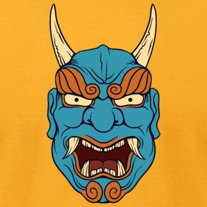laughing_demon_with_long_horn - Men's T-Shirt by American Apparel
