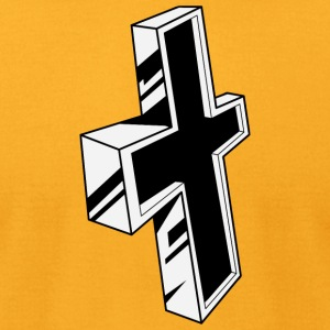 christian_cross_20 - Men's T-Shirt by American Apparel