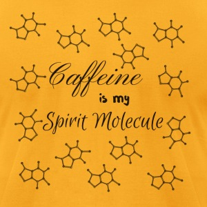 Caffeine is my Spirit Molecule - Men's T-Shirt by American Apparel