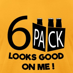 Six Pack LOOKS GOOD ON ME! - Men's T-Shirt by American Apparel