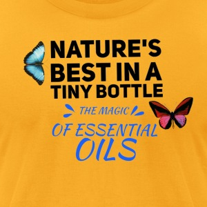 natures best in a tiny bottle, essential oils - Men's T-Shirt by American Apparel