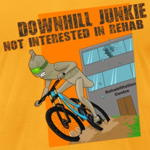 Downhill Junkie - Men's T-Shirt by American Apparel