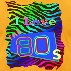 I love the 80s 001 - Men's T-Shirt by American Apparel