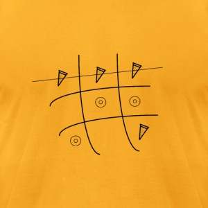 Tic Tac Pizza - Men's T-Shirt by American Apparel