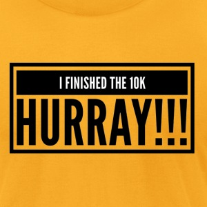 I finished a 10K hurray - Men's T-Shirt by American Apparel