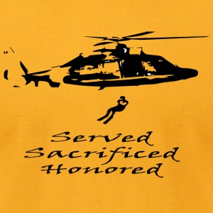 Coast Guard Served Sacrificed Honored - Men's T-Shirt by American Apparel