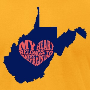 West Virginia - Men's T-Shirt by American Apparel