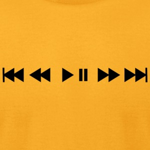 Music buttons - Men's T-Shirt by American Apparel