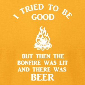 Beer and Camping Shirt - Men's T-Shirt by American Apparel