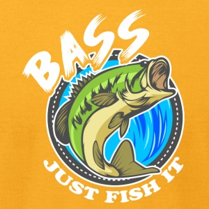 Just Fish It Bass Fishing Tee Shirt - Men's T-Shirt by American Apparel