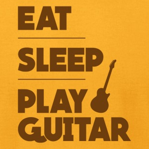 Eat Sleep Play Guitar Funny Tee Shirt - Men's T-Shirt by American Apparel