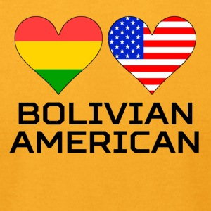 Bolivian American Hearts - Men's T-Shirt by American Apparel