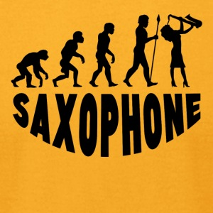 Saxophone Evolution - Men's T-Shirt by American Apparel