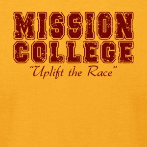MISSION COLLEGE MAROON - Men's T-Shirt by American Apparel