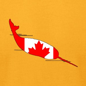 Canada Flag - Narwhal - Men's T-Shirt by American Apparel